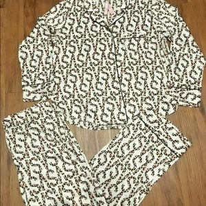 Victoria's Secret Satin snake print pajamas XL